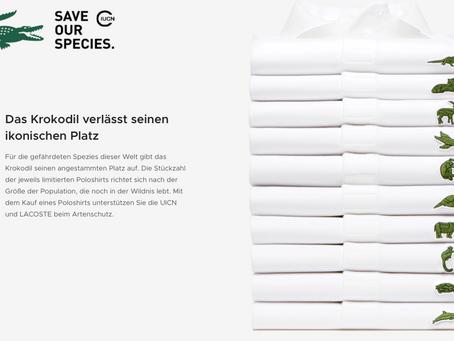 """""""Save our species"""" Kampagne von Lacoste aus 2018"""