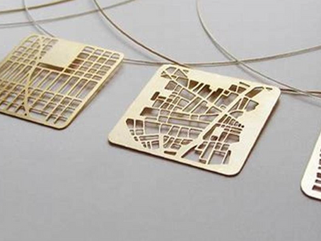 """You are here"" Map Jewelry von Talia Sari"