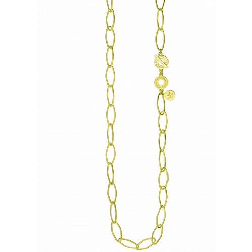 Goldene Halskette aus Messing (vergoldet)