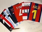 Personalised football Christmas or Birthday card