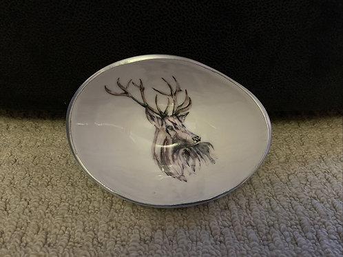 SALE Tilnar Art Oval Small Stag Bowl Meg Hawkins Collection