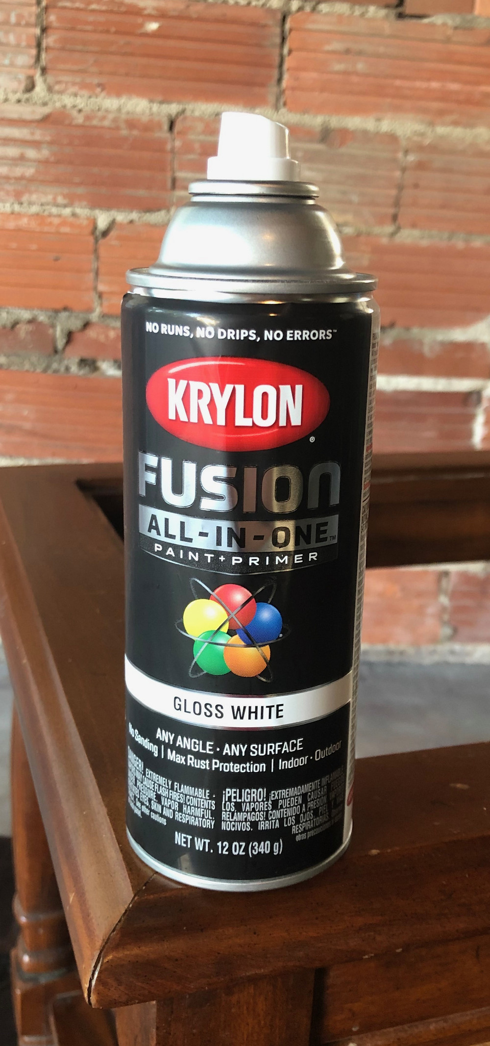 Krylon high gloss white spray paint