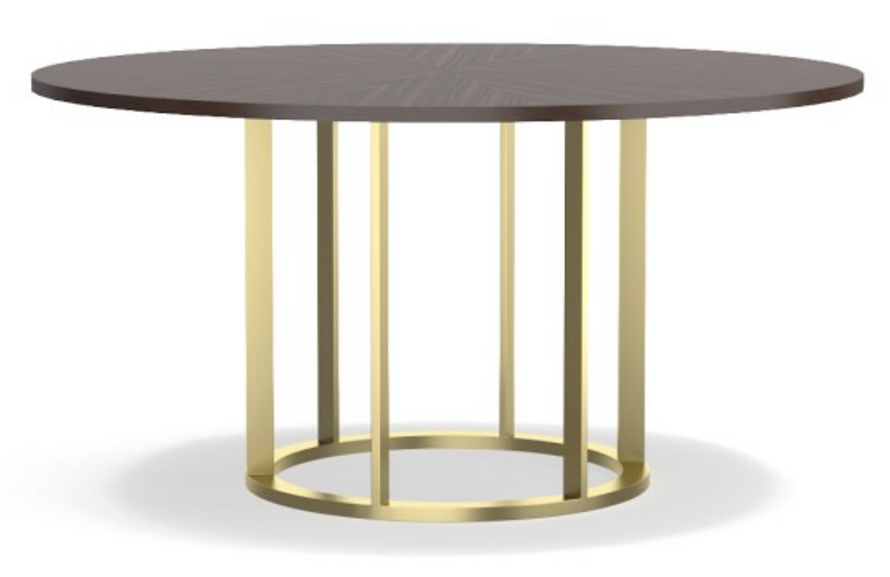 Williams Sonoma gold wood pedestal table