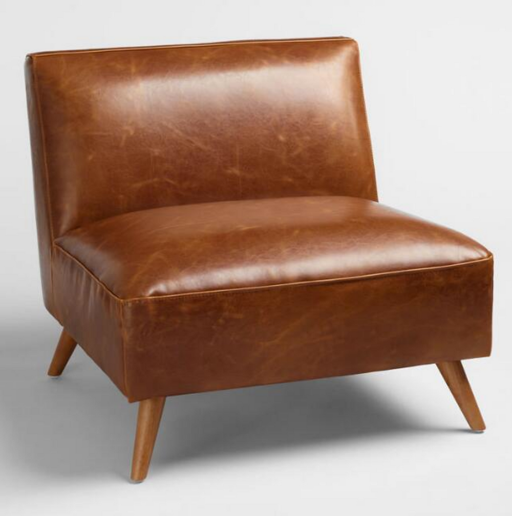 leather midcentury modern chair