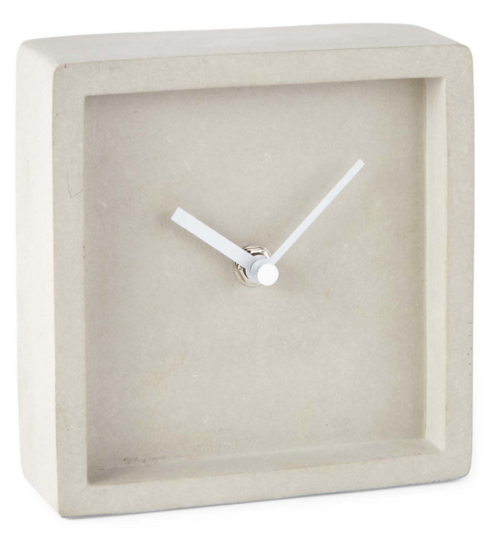 Cement Table Clock