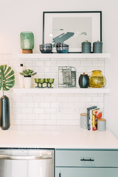 Loft Project | Open Kitchen Shelving