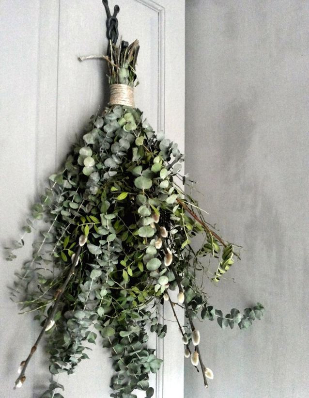 dried eucalyptus bunch