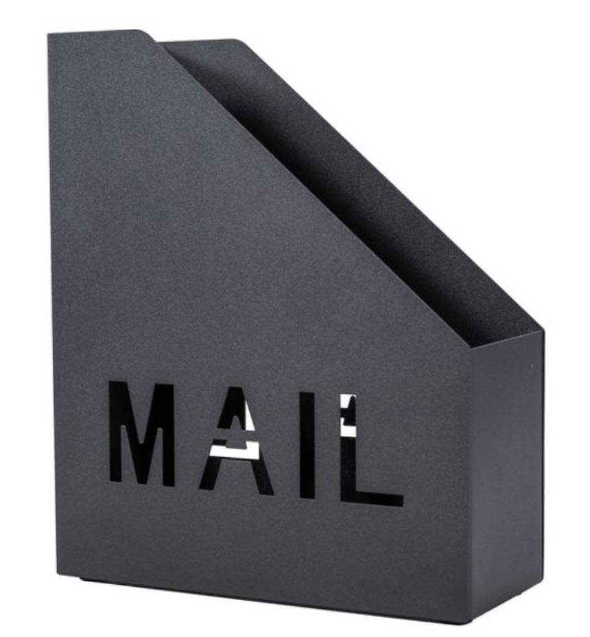 Mail Holder Black Target