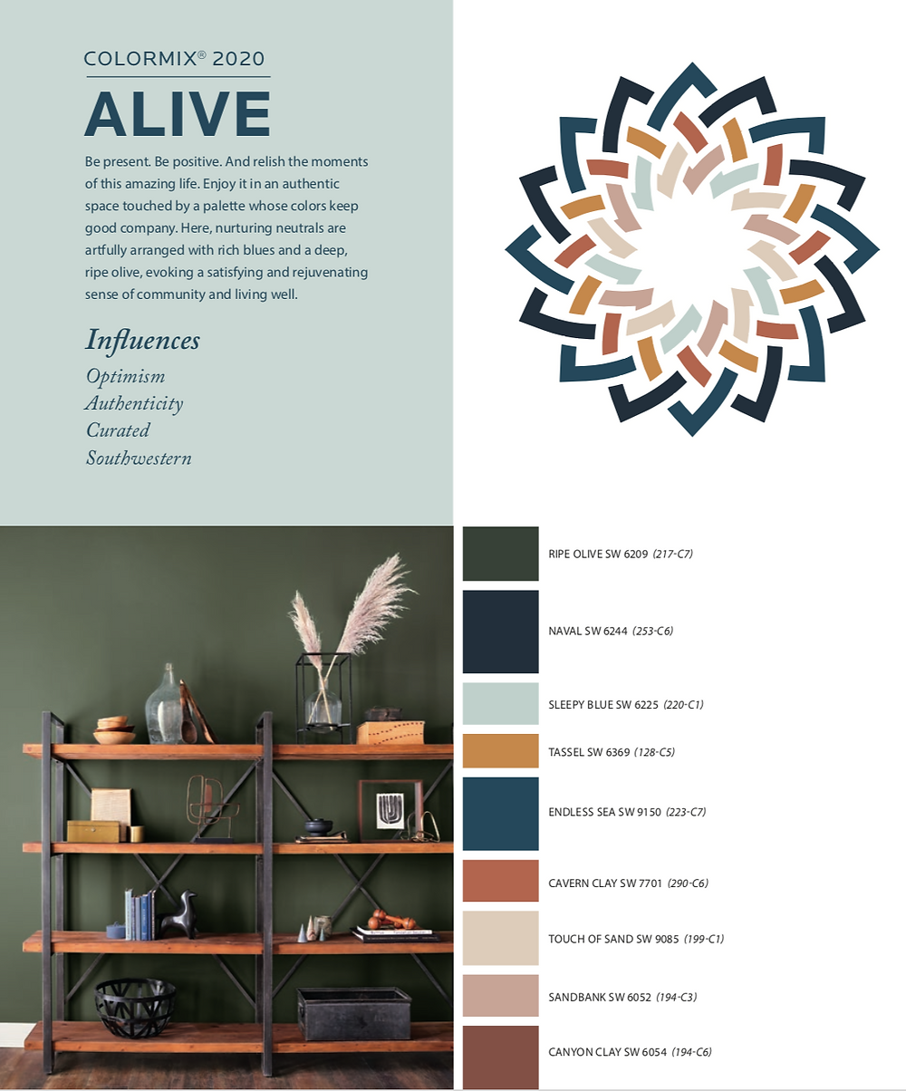 sherwin williams colormix 2020 Alive