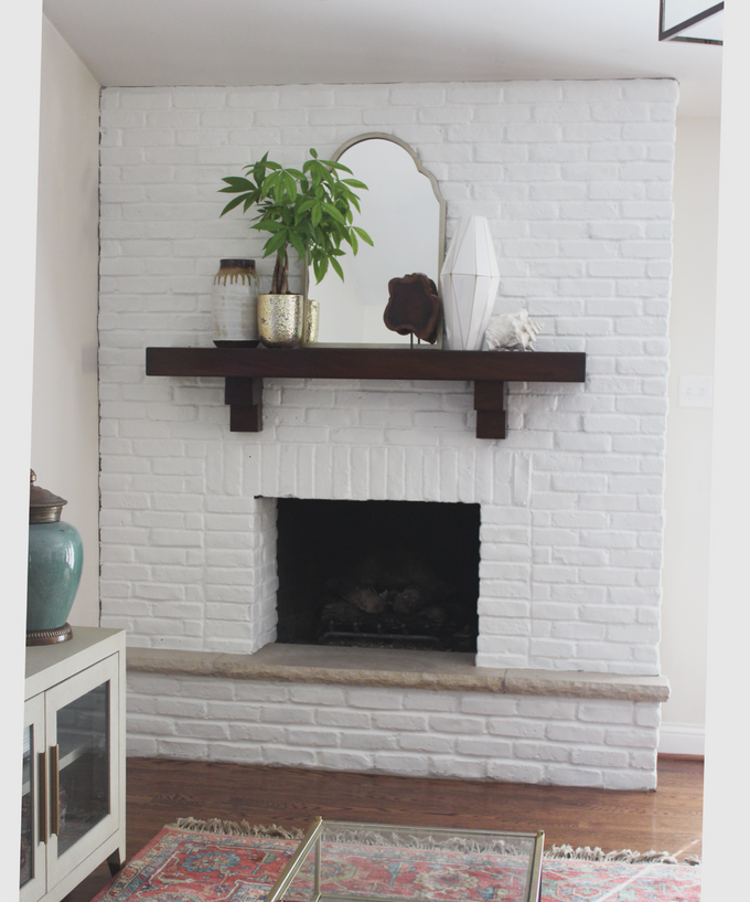 Painting my brick fireplace