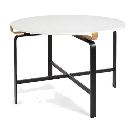 Modern white foyer table