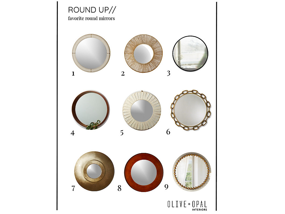 Round Mirror Favorites for Design and Staging
