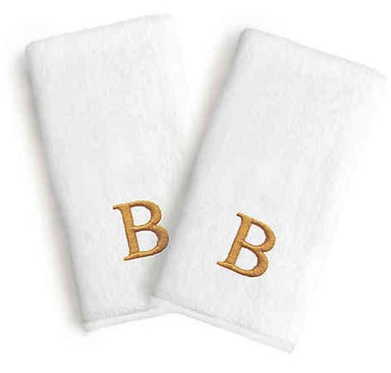 monogrammed hand towel