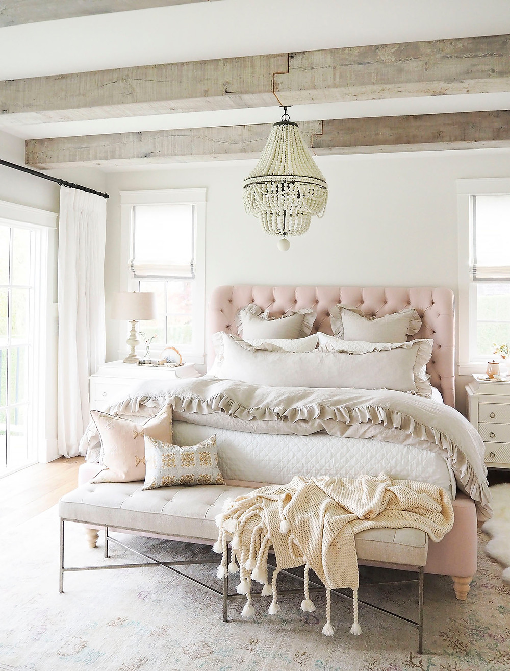 light pink master bedroom