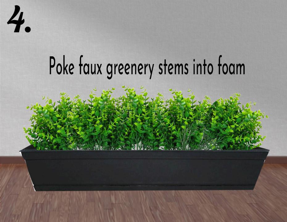add greenery stems