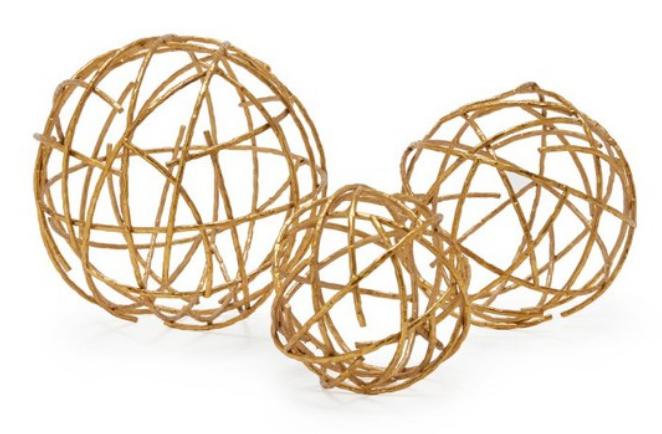 metal decorative spheres set