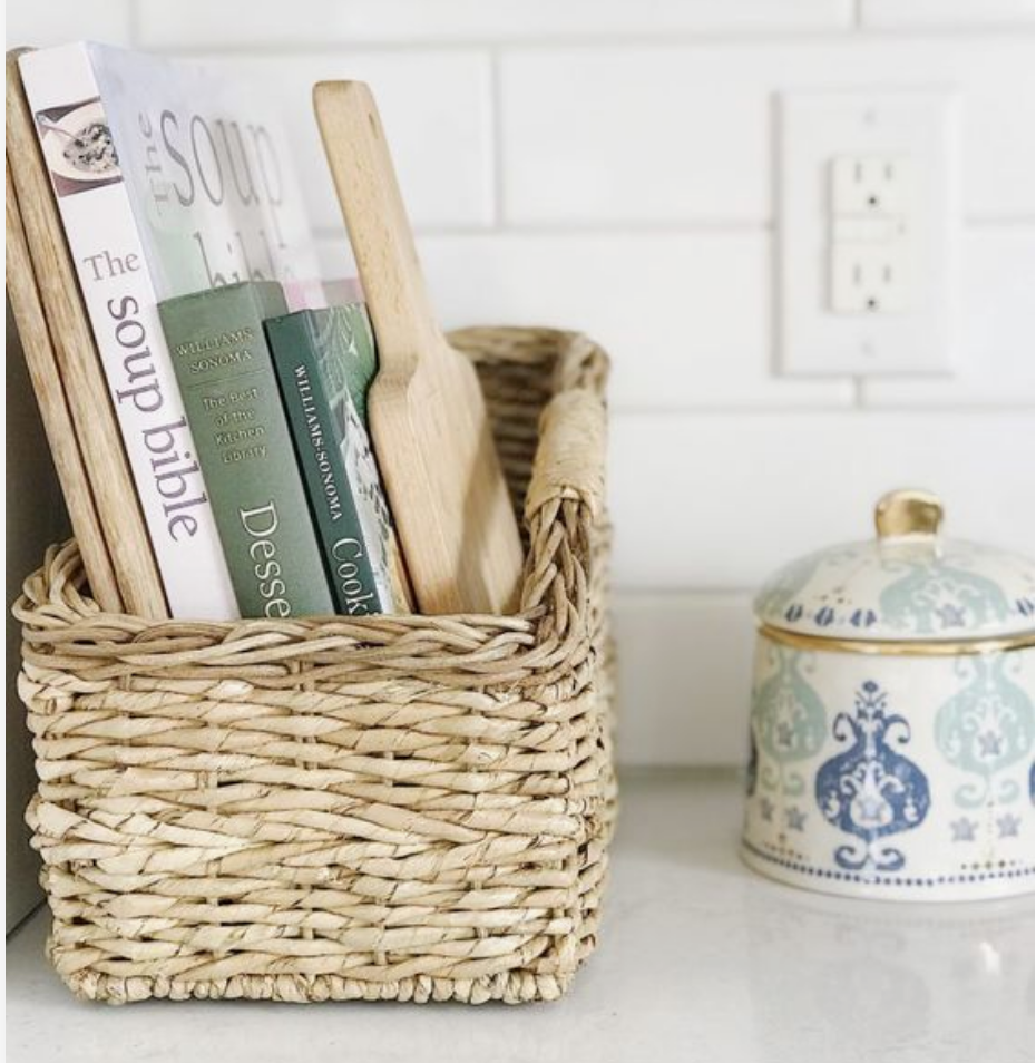 cookbooks in basket