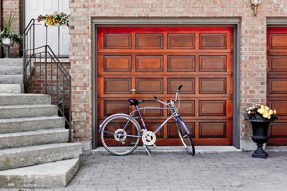 upgraded garage door