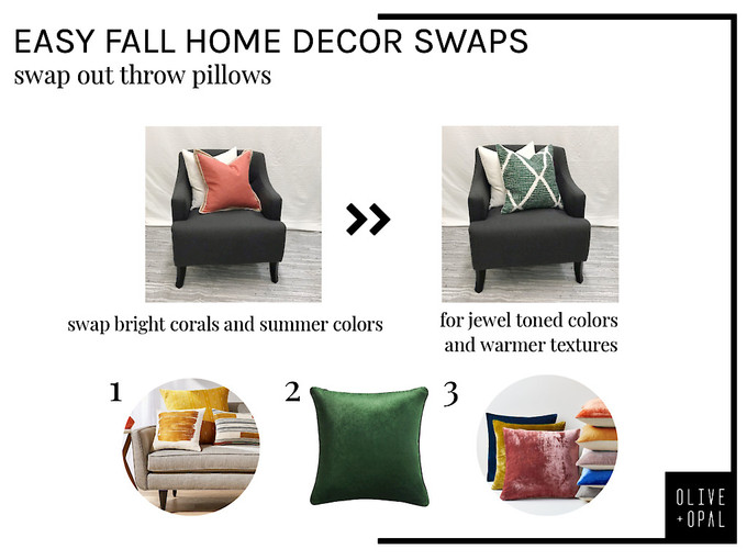 Easy decor swaps for Fall