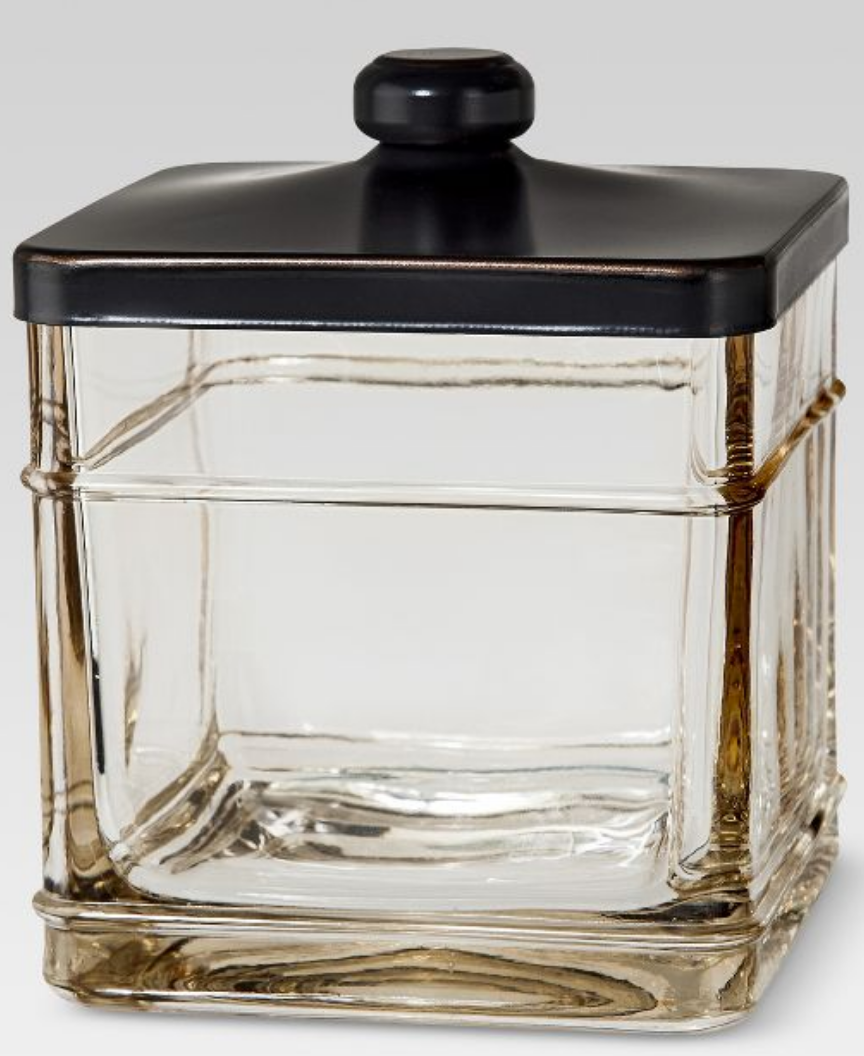 Antique glass canister