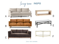 """Creating a cohesive living room, without looking """"matchy-matchy"""""""