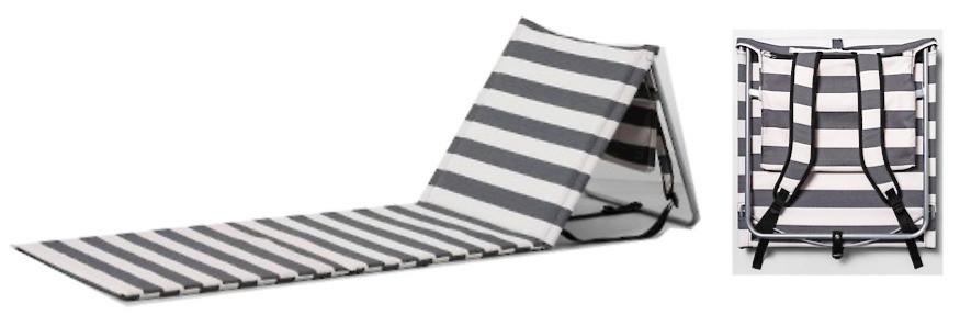 striped beach lounger Hearth & Home