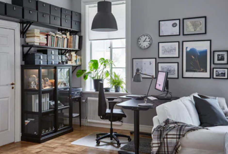 dark grey ikea office