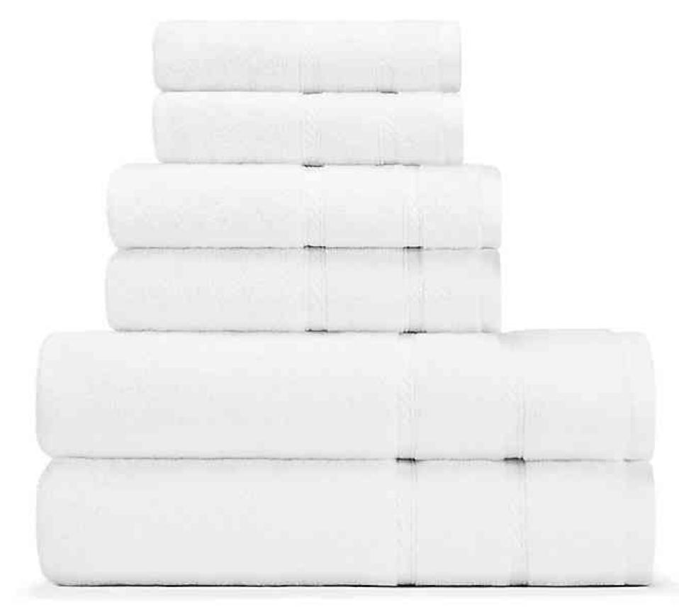 Nautica 6=piece bath towel set