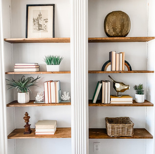 Shelf Styling & Home Staging by Olive & Opal Interiors