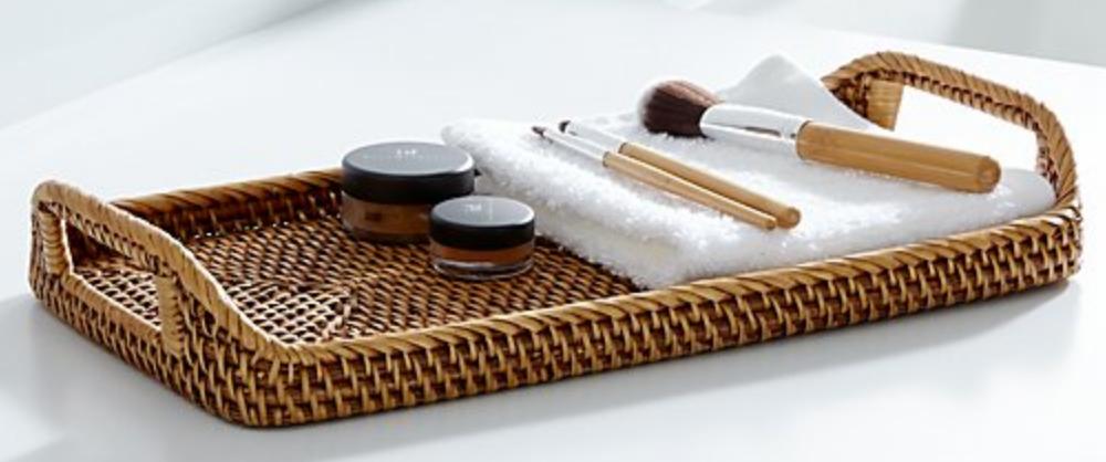 Crate & Barrel Sedona Honey Vanity Tray
