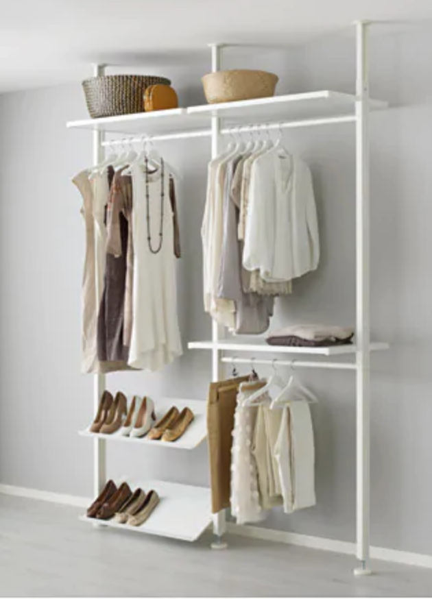 ikea open closet system