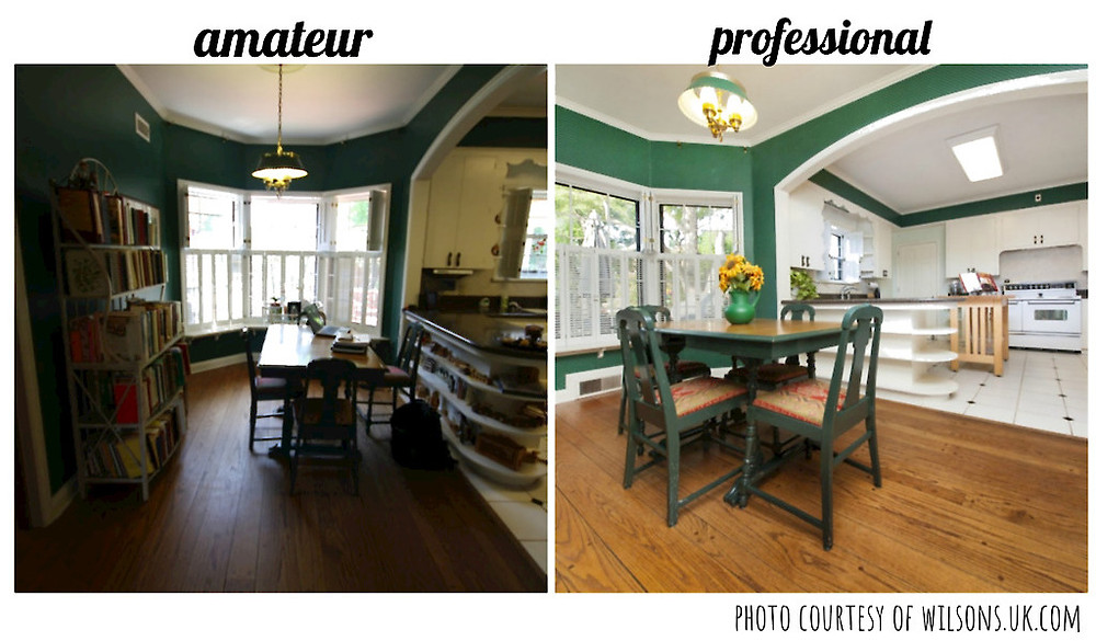 amateur vs professional real estate picture