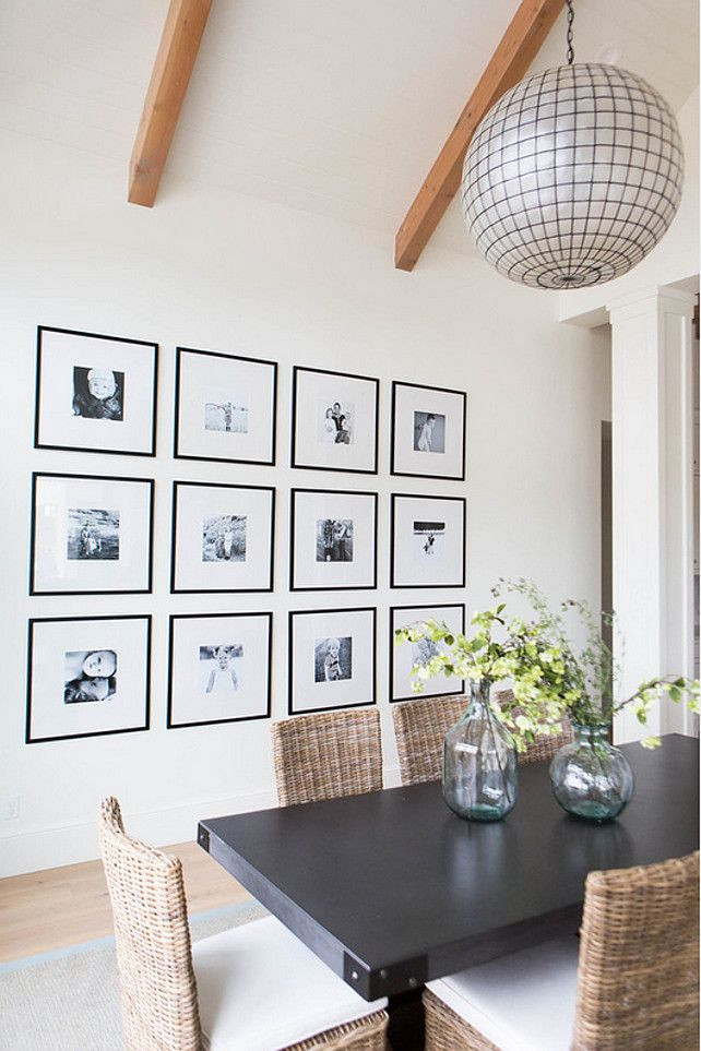 photography gallery wall dining room