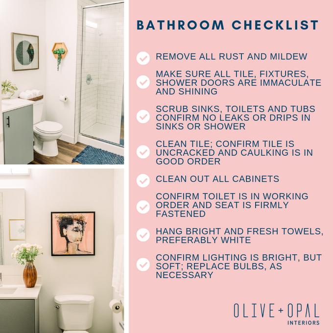 Tuesday tips: bathroom to-do list