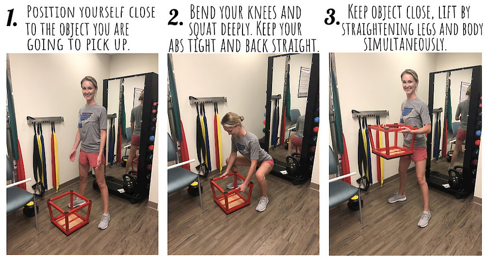 steps for proper lifting