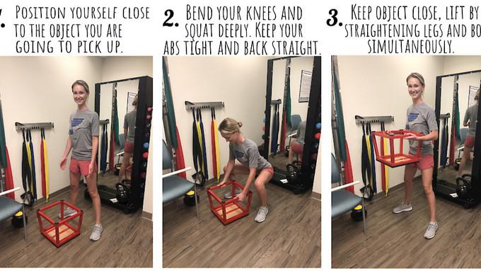 You Betta Watch Your Back: Proper Body Mechanics