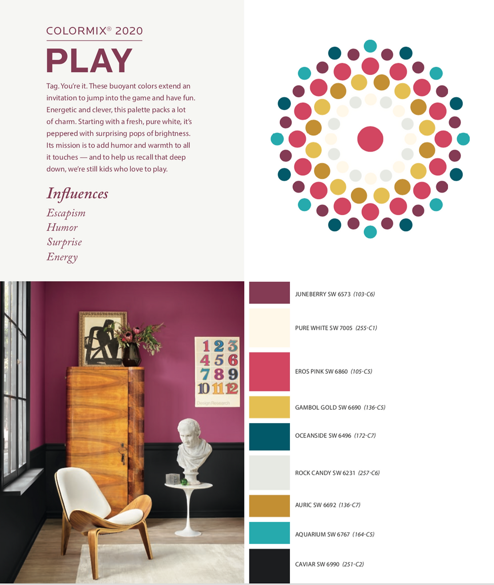 sherwin williams colormix 2020 Play