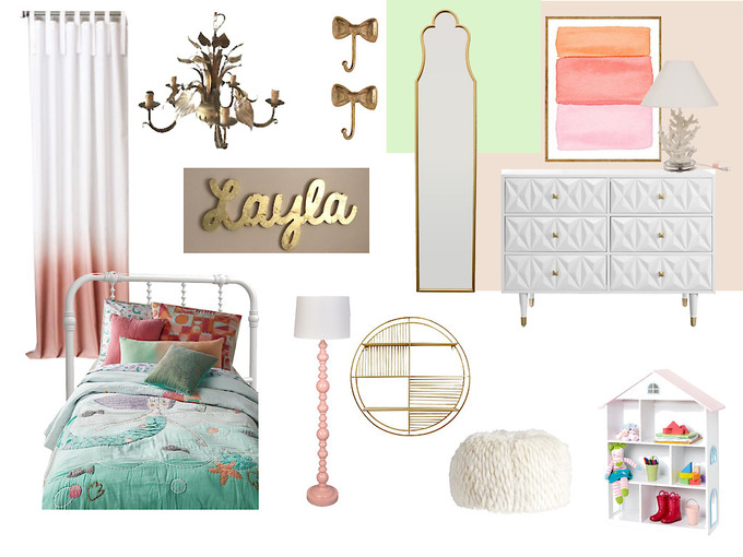 Layla's bedroom boards