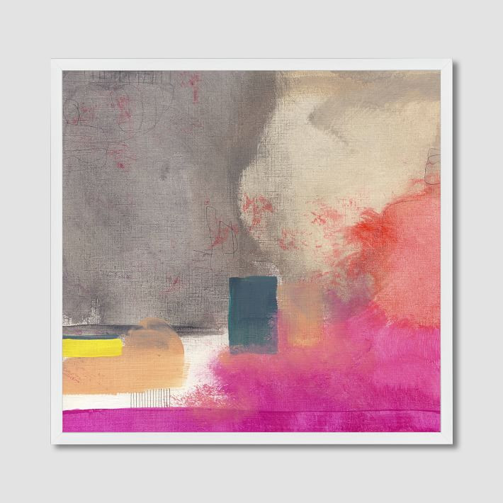 pink west elm abstract painting