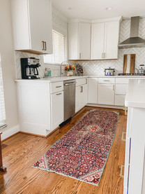 Add a pop of color with a kitchen runner