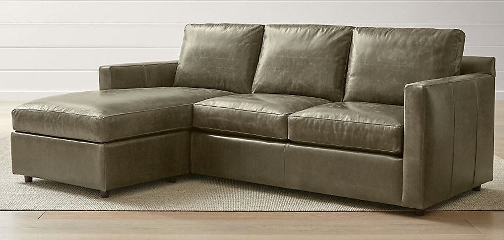 Crate & Barrel leather sectional
