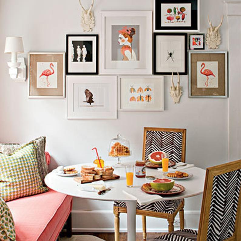 art gallery wall dining room