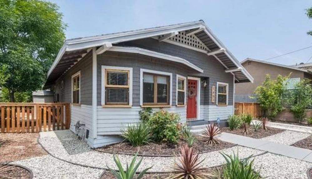 blue california bungalow