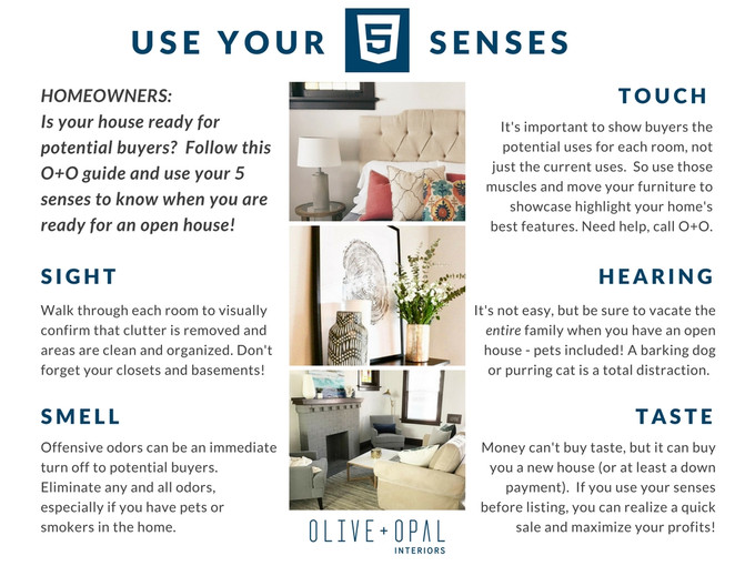 Ready for your open house? Use your 5 senses