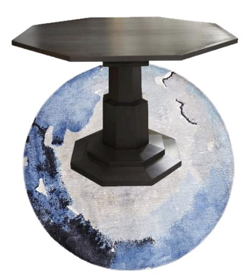 Hexagon modern wood foyer table