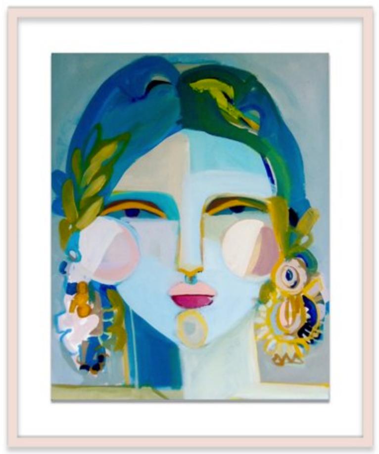 blue portrait of lady
