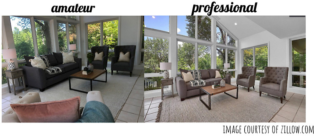 amateur vs professional interior photo
