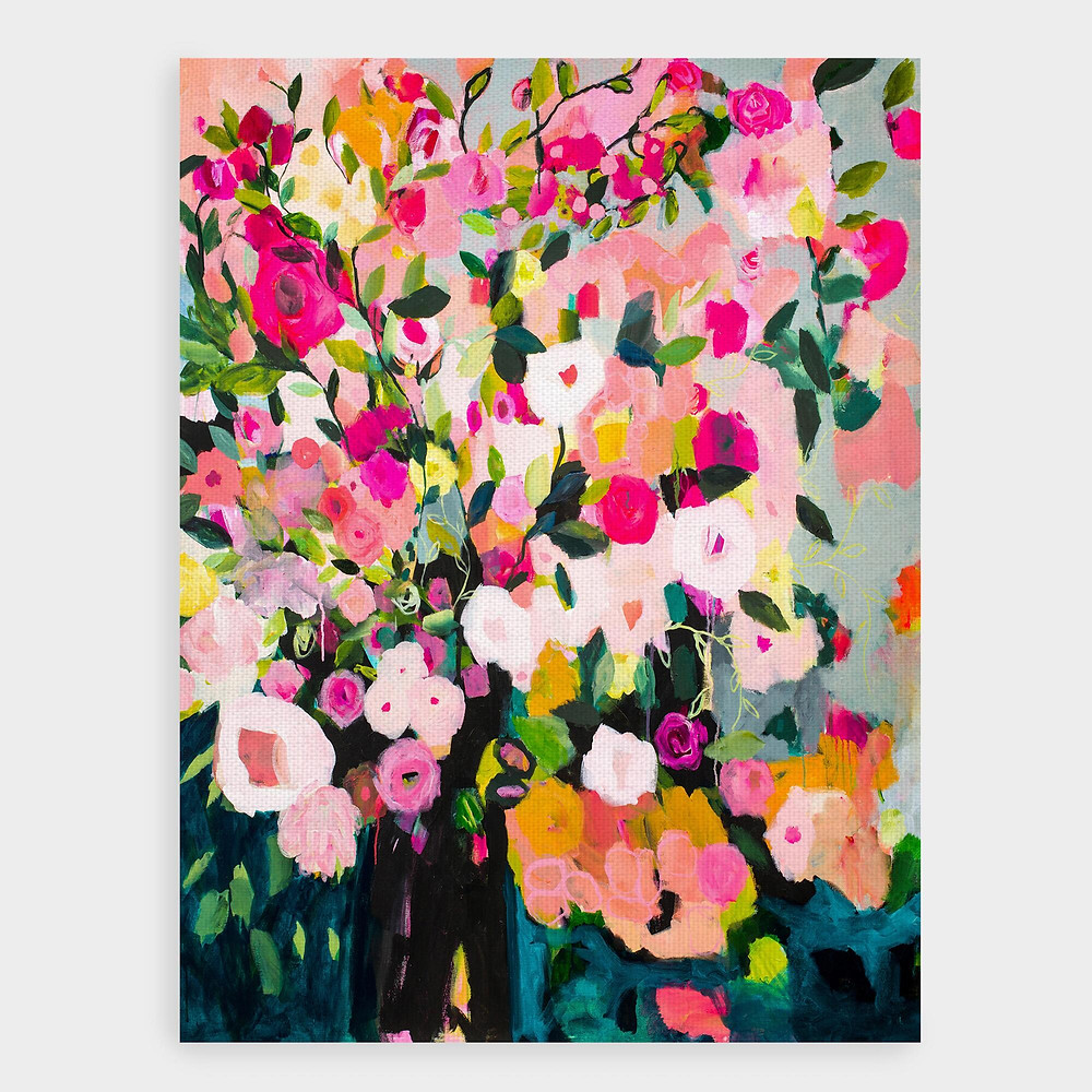 world market flowers painting