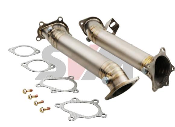 Titanium Decat Exhaust Downpipes - Nissan R35 GTR