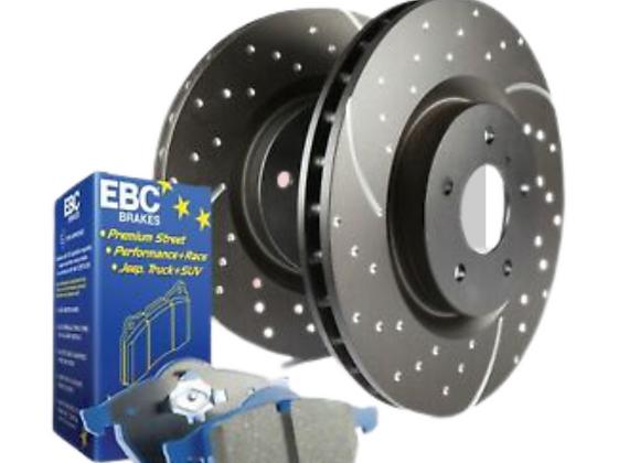 EBC Bluestuff Rear Brake Disc and Pad Kit - Nissan 370Z
